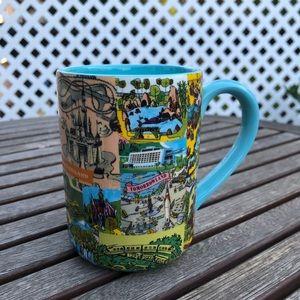 Disney Parks Magic Kingdom Fantasyland Map Mug Cup